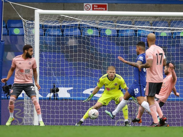 GOAL: Sheffield United's Oliver Norwood opens the scoring - for Chelsea