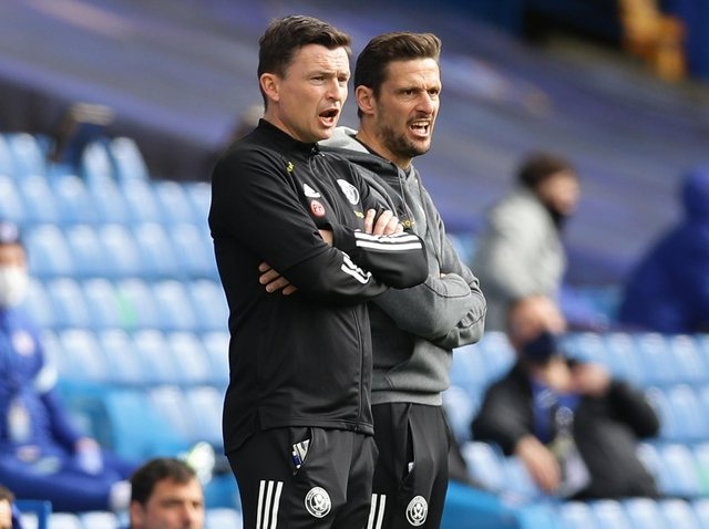 MIXED EMOTIONS: Paul Heckingbottom, pictured with assistant Jason Tindall (right)