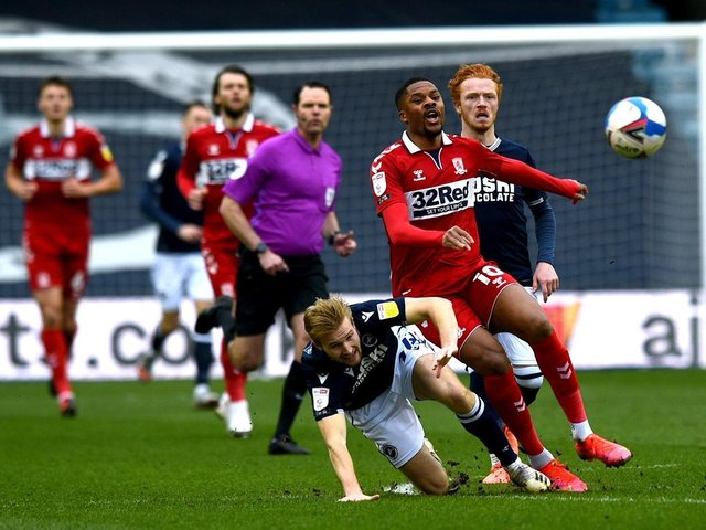 SUBSTITUTED: Chuba Akpom was one of four Middlesbrough players substituted before the second half kicked off