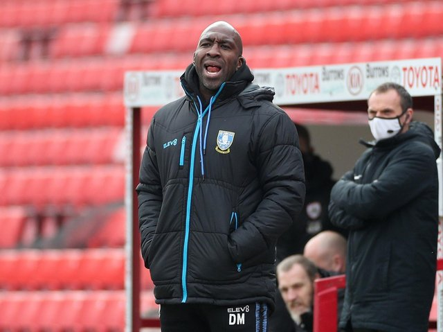 Sheffield Wednesday head coach Darren Moore pictured at Oakwell. Picture: PA.