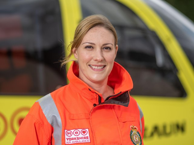 Paramedic Rachel Smith says there are many more women working in the service now.Picture: John Gardner/yorkshire air ambulance