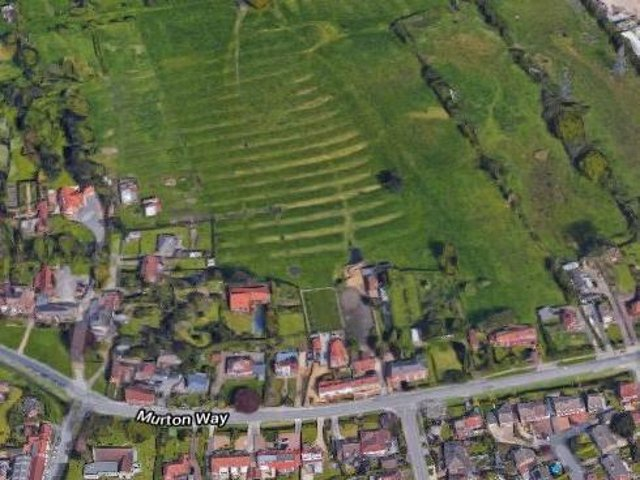 The plans have been submited for a field north of Murton Way in Osbaldwick