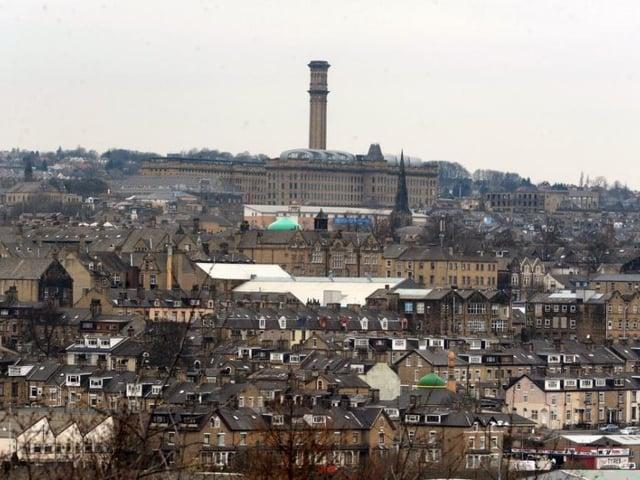 Bradford skyline, dominated by Manningham Mills. Picture: Tony Johnson.