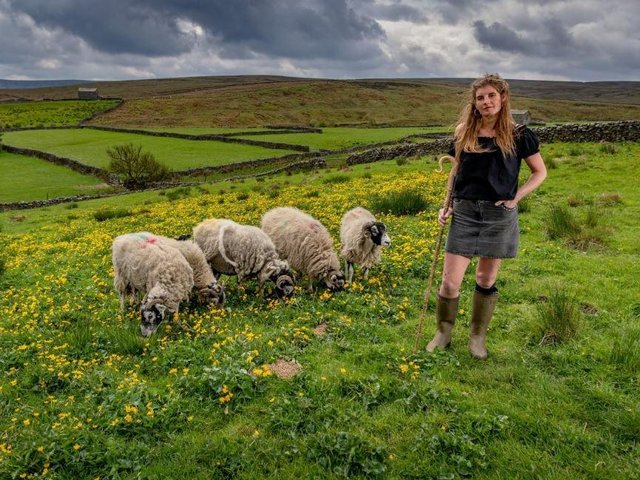Amanda Owen, aka the Yorkshire Shepherdess, whose Channel 5 show has been recommissioned for a fourth series. Picture: James Hardisty.
