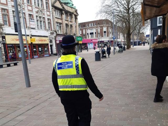 Police on patrol in Hull.