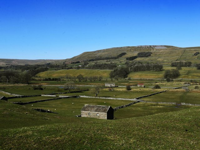 Stone barns near Hawes in the Yorkshire Dales.  Picture : Jonathan Gawthorpe
