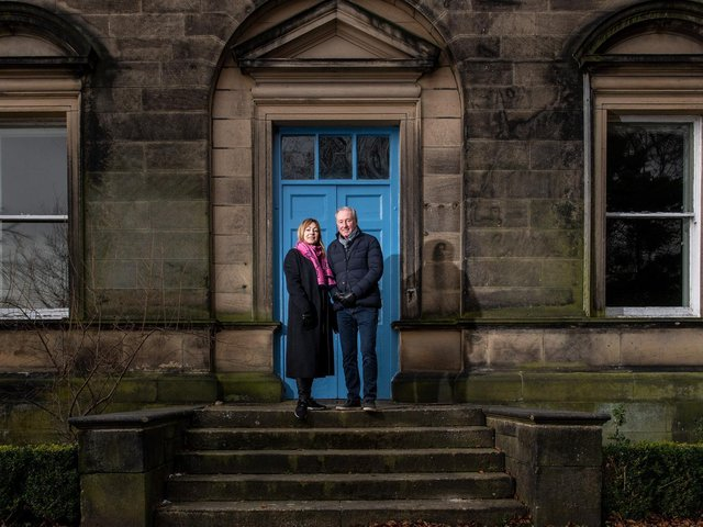 Beverly and Stewart Bates who have bought and are sensitvely reviving the historic  Haugh End estate in Sowerby Bridge