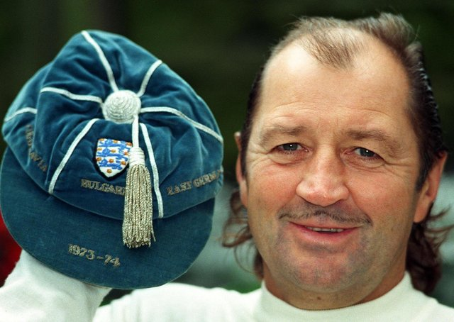 Cap that: Frank Worthington with one of his England caps. Picture: Gary Longbottom