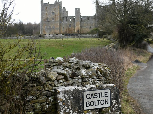 Pictured, The country gardens at Bolton Castle  will re-open on Monday 29 March, every day from 10am to 5pm. Photo credit: Gary Longbottom / JPIMediaResell