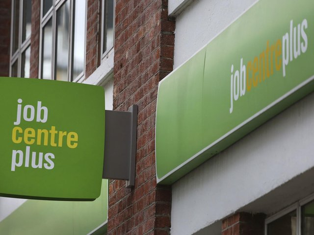 Library image of a Job Centre Plus in London.