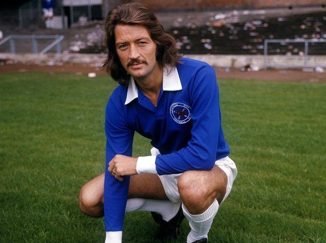ENTERTAINER: Frank Worthington, pictured in his days with Leicester City, one of more than 20 clubs he played for