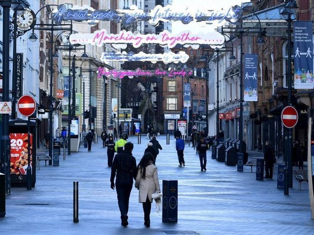 Briggate, one of the main shopping streets in Leeds. Picture: Simon Hulme.
