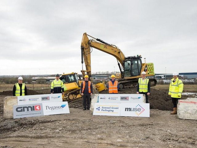 The ground-breaking ceremony as work begins.on the final two units