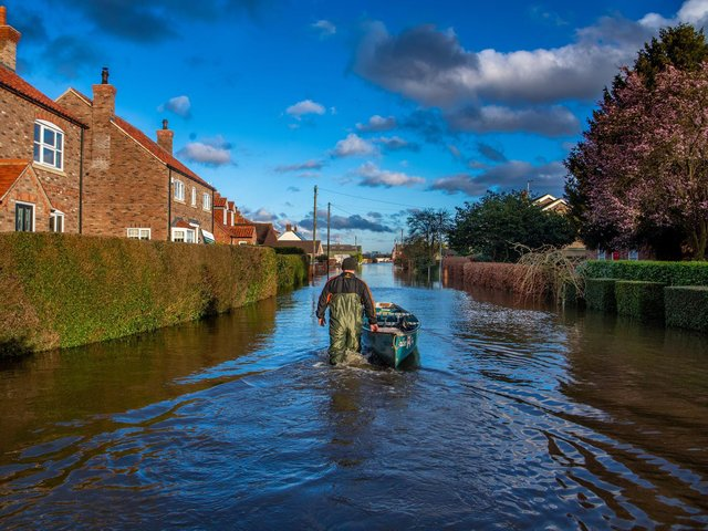 Flooding in East Cowick near Snaith in 2020  Picture: James Hardisty