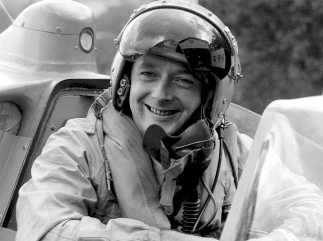 Donald Campbell, who died when his Bluebird K7 hydroplane overturned on Coniston Water January 4, 1967, while trying to beat the water speed record. (Photo: PA News Agency).