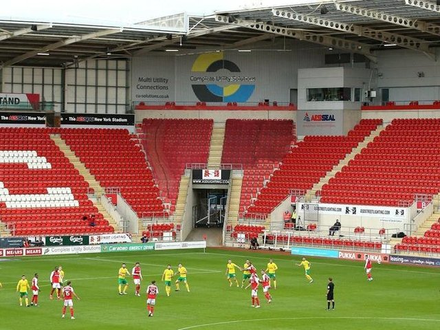 Rotherham United's AESSEAL New York Stadium last month. Picture: Nigel French/PA