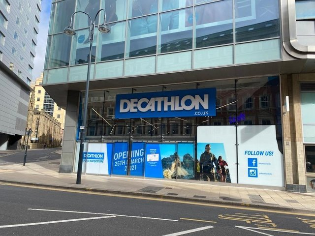 Decathlon is opening at the site of the former BHS store.