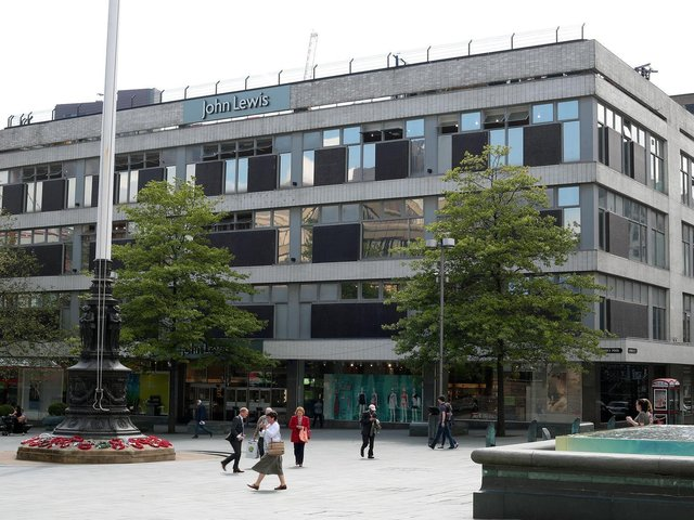 John Lewis in Sheffield, at the landmark 1960s Cole Brothers building