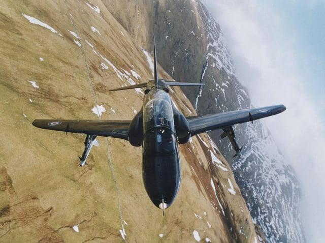 An RAF Hawk jet