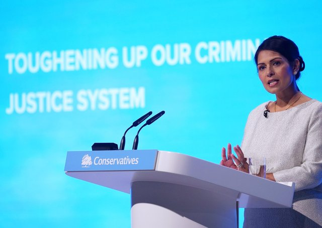 Priti Patel at the 2019 Conservative Party Conference (Photo by Jeff J Mitchell/Getty Images)