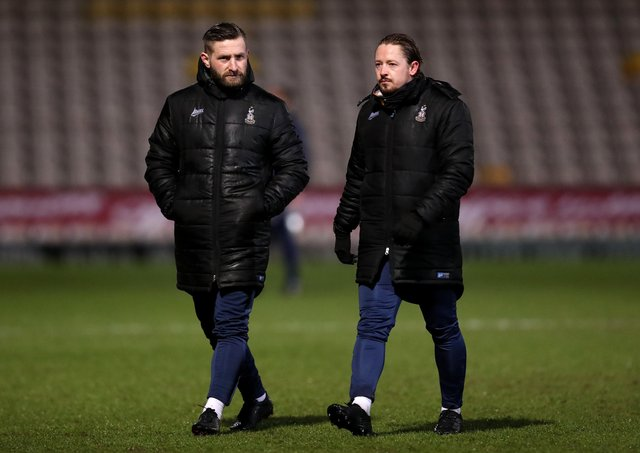 ANSWERS: Bradford City joint-managers Mark Trueman and Conor Sellars, right, are keen for their team to end a five-game winless streak. Picture: George Wood/Getty Images