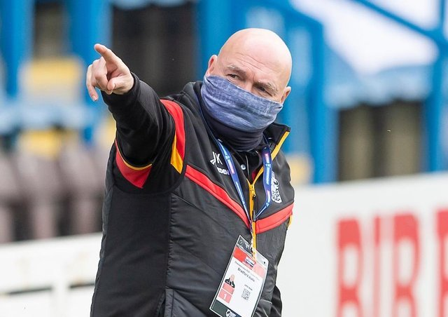 Pointing the way: Veteran coach John Kear has come up with a new way to prepare his players for the demands of the Championship and what Bradford Bulls hope will eventually be Super League. (Picture: SWPix.com)