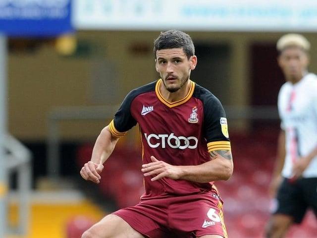 Bradford City defender Anthony O'Connor. Picture: Tony Johnson.