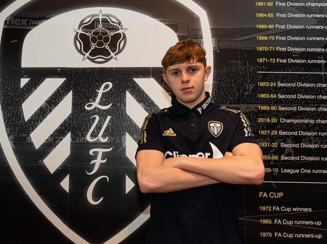 REWARD: Max Dean has been scoring goals for Leeds United's under-age teams this season