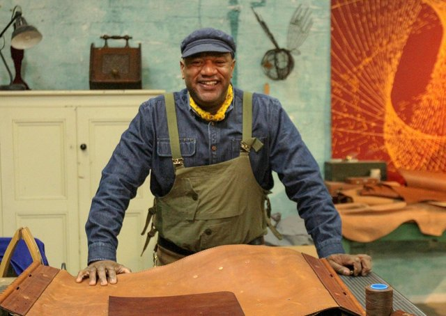 BBC 2 new series Saved and Remade stars Yorkshire leather craftsman Jason Stocks-Young. (C) Red Sky Productions Ltd - Photographer: Scott Anderson