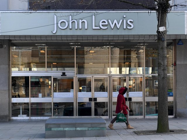 The John Lewis store in Sheffield has been in the city since 1940.