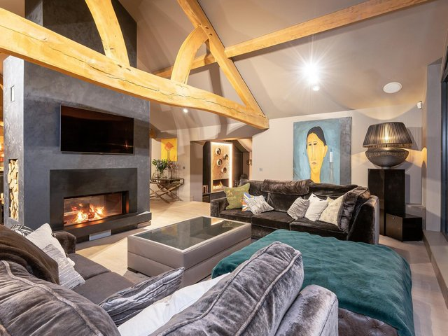 The sitting area in the open plan living space