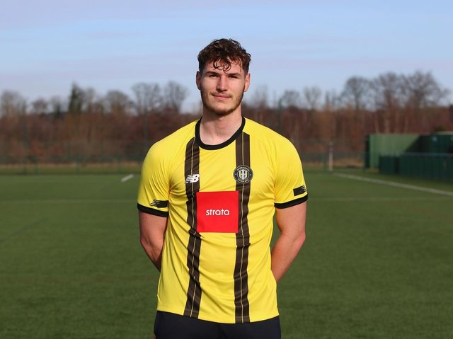 LOAN SIGNING: But Josh Andrews has rarely been seen in Harrogate Town colours