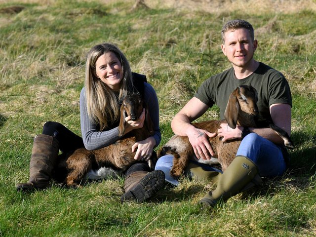 Josh and Jade Connolly now have a small herd of Anglo Nubian goats