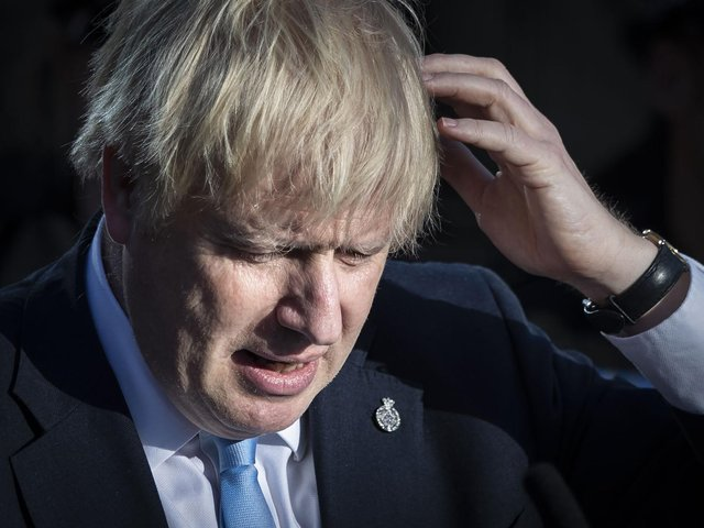 Boris Johnson on a visit to West Yorkshire. Photo: PA
