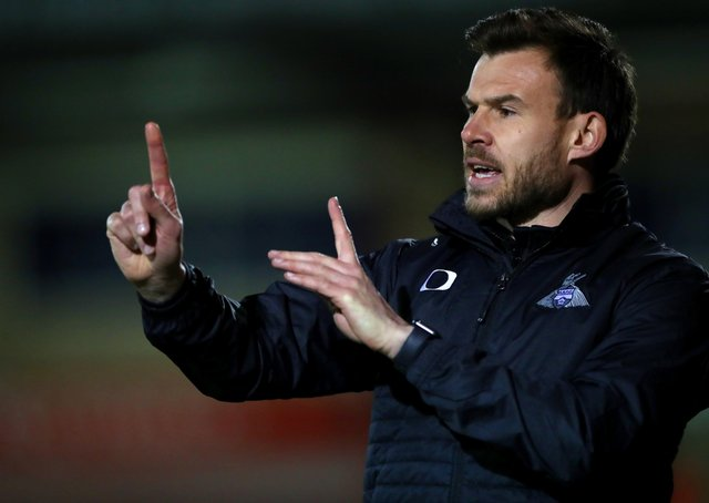 Staying positive: Doncaster Rovers interim manager Andy Butler.