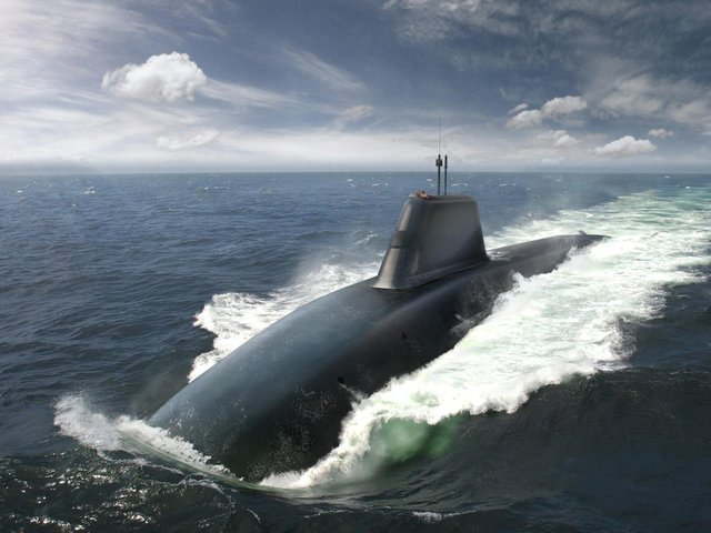 An artist's impression of the Dreadnought-class submarine.