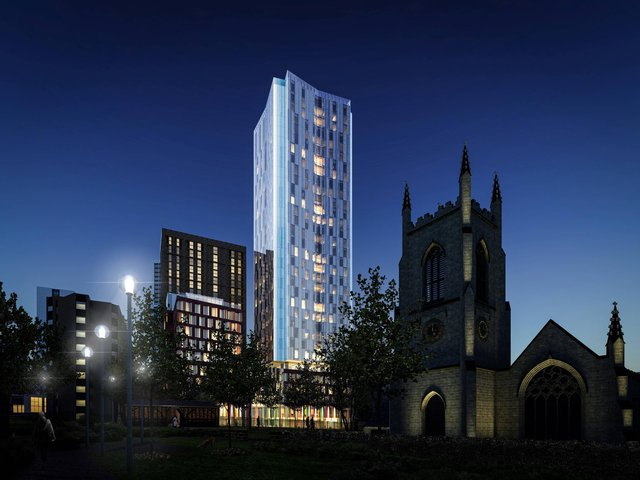 Computer generated images of the planned student accommodation scheme in Leeds.