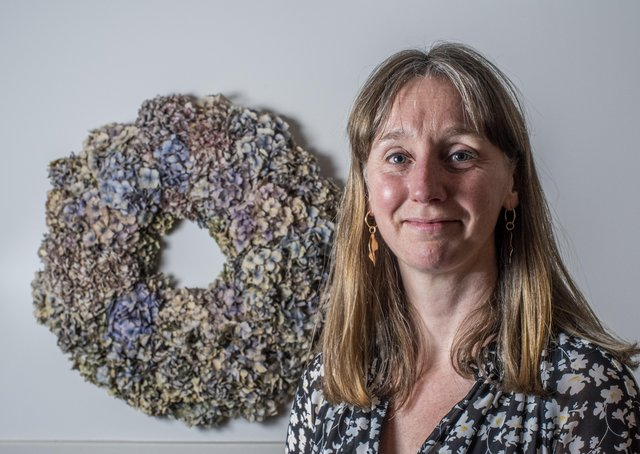 Full Circle Funerals' Director Sarah Jones, photographed in the headquarters of the funeral home in Guiseley. Picture: Ernesto Rogata.