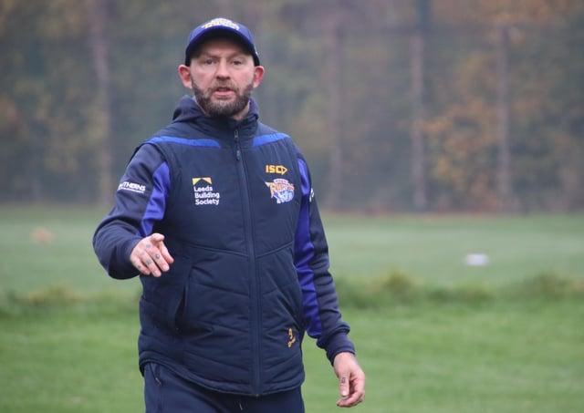 CUP NOUS: Leeds Rhinos assitant coach Sean Long. Picture: Phil Daly/Leeds Rhinos/SWpix.com.