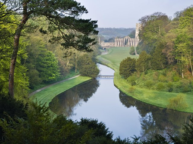 The Fountains Abbey and Studley Royal estate in North Yorkshire has moved up a national league table of the most visited major attractions nationally. (Photo: National Trust Images/Andrew Butler).