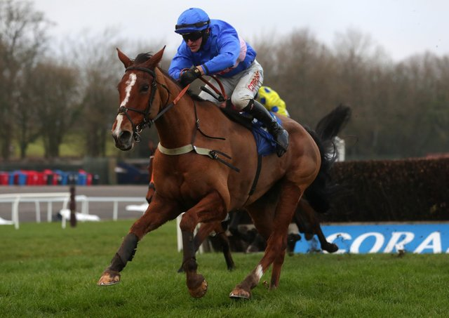 This was Secret Reprieve winning the Coral Welsh National under Adam Wedge.
