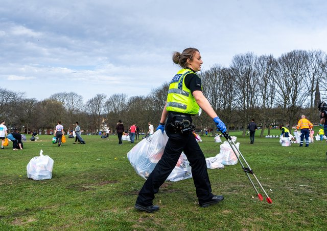 Litter left on Woodhouse Moor as the lockdown was eased - is this evidence of a wider societal decline in standards? Photo: James Hardisty.