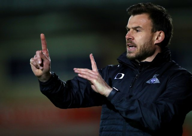 Aiming to keep job: Doncaster Rovers interim manager Andy Butler.