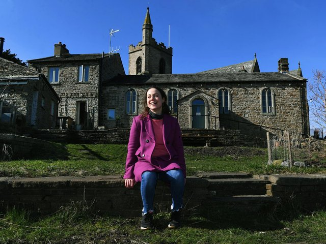 Emily Rowe Rawlence who bought the Church House and the Nash dance studio in Hawes and started researching its history, finding it was an old school, one of dozens lost in the Dales over the century, and started exploring story of history of Dales schools. Picture : Jonathan Gawthorpe
