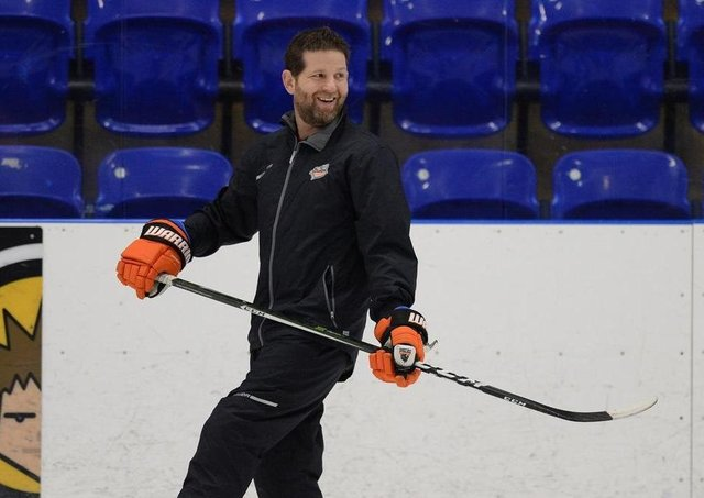 CONFIDENT: Sheffield Steelers' head coach Aaron Fox at Ice Sheffield earlier this week. Picture: Dean Woolley.