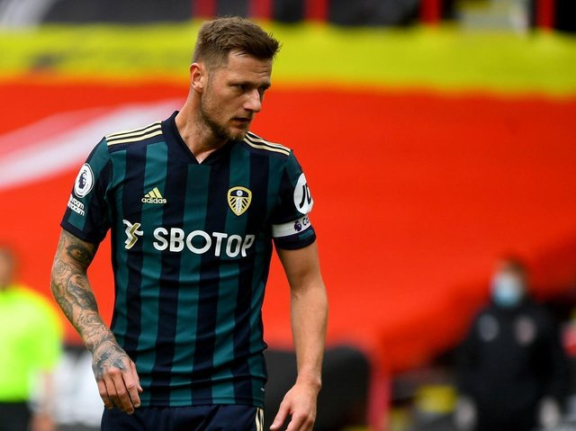 AVAILABLE: But Leeds United captain Liam Cooper faces competition for his central defensive place