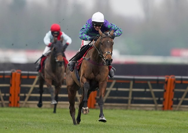 NEXT UP: Thyme Hill, pictured winning at Newbury under former champion jockey Richard Johnson, is set for Aintree, says trainer Philip Hobbs.