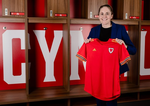 Stepping in: Gemma Grainger ahead of her being appointed as the new Wales women's national team manager. Picture: John Smith/FAW