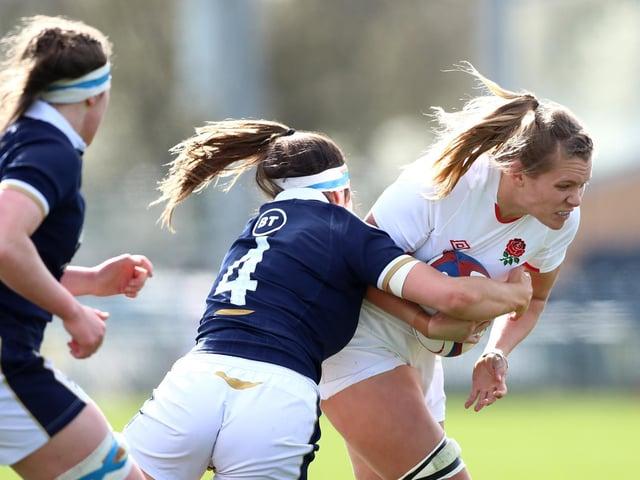 WOMEN'S SIX NATIONS: England 52-10 Scotland, Scarborough's Zoe Aldcroft. Picture: Getty Images.