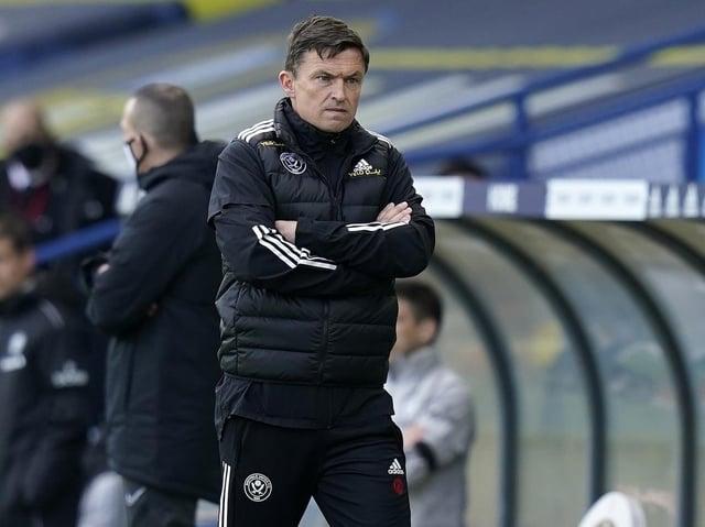 NO EXCUSES: Sheffield United interim manager Paul Heckingbottom